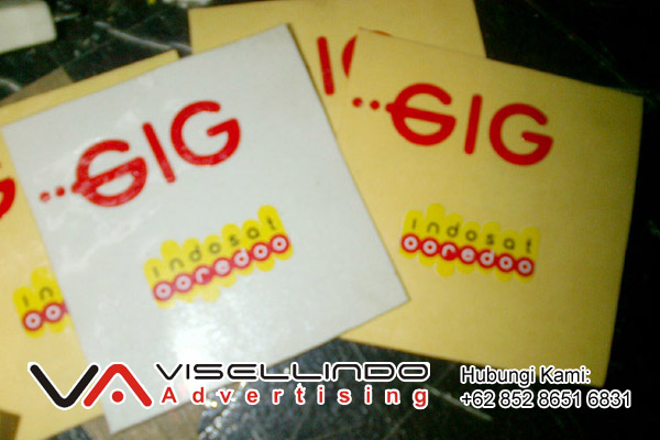 Cutting Sticker Indosat